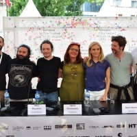 Crew of the film RUNAWAY DAY, Press Conference, Festival Square, 2013, © Obala Art Centar