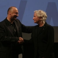Mirsad Purivatra and Agnès B, Opening Ceremony, Honorary Heart of Sarajevo, National Theatre, Sarajevo Film Festival, 2014 (C) Obala Art Centar