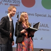 László Nemes, SON OF SAUL, SPECIAL JURY PRIZE, COMPETITION PROGRAMME – FEATURE FILM, National Theatre, 21. Sarajevo Film Festival, 2015 (C) Obala Art Centar