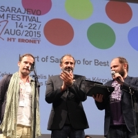 Efthymis Filippou, Panos Koronis, Makis Papadimitriou, CHEVALIER, HEART OF SARAJEVO FOR BEST ACTOR, COMPETITION PROGRAMME – FEATURE FILM, National Theatre, 21. Sarajevo Film Festival, 2015 (C) Obala Art Centar